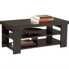 Merveilleux Modern Coffee Table In Dark Brown Black Forest Finish
