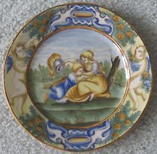 ~ PRICE REDUCTION! ~ CASTELLI/NAPOLI ~ MAIOLICA ITALIAN MAJOLICA FAIENCE PLATE Price Reduction, Italian Art, Pottery Art, Art Nouveau, Decorative Plates, Victorian, Tableware, Brooches, Vases
