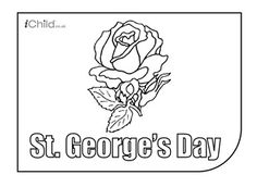Enjoy colouring in these activities! With this printable activity, you can colour in your very own rose for St. George's Day!