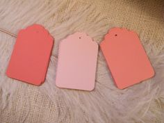 Coral and Blush Gift Tags / 150 /  Escort Cards / Hang tags / Blank / Trio Of Coral and Blush / Wedding Wish Tree Cards / Placecards on Etsy, $21.00