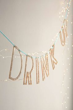 Drink Up Acrylic Banner DIY Kit - Urban Outfitters