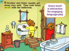 The Berenstain Bears Get In a Fight interactive storybook by Wanderful.