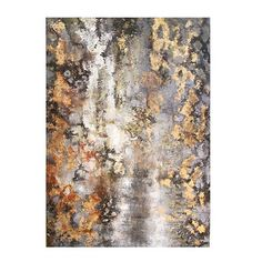 Amber Bark Hand Painted Canvas, 72 x 48 Sherwin Williams Matches: Extra White, Dovetail, Vaguely mauve, Manor House, Tricorn Black