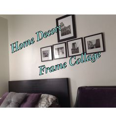 Home Decor Frame Collage tutorial. I used pictures that I took while studying in Italy to decorate my place :)
