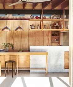 Plywood kitchen from sustainable home in Melbourne's inner north by Form Architecture Furniture. Photography: Nikole Ramsay | Styling: Emma O'Meara | Story: Australian House & Garden