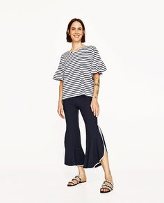 ZARA - WOMAN - T-SHIRT WITH FRILLED SLEEVES