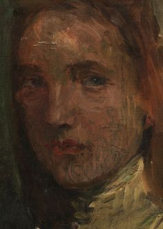 Detail of Jan Preisler's Portrait of a Young Girl, sold for $12,000 at Brunk Auctions Woman Face, Art Pieces, Auction, Faces, Portraits, Paintings, Detail, Fine Art, Paint