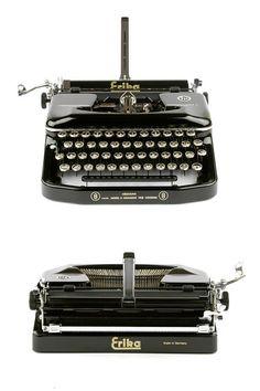 Erika 8 working typewriter in excellent condition 50s