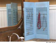 Decorating With Repurpose : Window Shutter Jewelry Holder