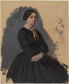Young Woman In Black, Edgar Degas (1861-65)