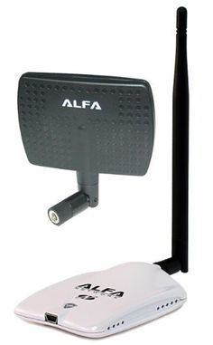 Alfa AWUS036NHR - High-Gain 2000mw 2W 802.11 B/G/N Wireless USB Network Adaptor with a 5dBi Omni-Directional Antenna and a 7dBi Panel Antenna - Wireless-N 802.11n Wi-Fi - 150Mbps - 2.4 GHz - 5dBi Antenna - Long Range - Realtek Chipset - Strongest on the Market by Alfa. $36.99. This is the long awaited successor to Alfa's popular AWUS036H. The AWUS036NHR utilizes a new 802.11n chipset from Realtek (RTL8188RU) and is light years ahead of its predecessor. Alfa's AWUS036NHR ...