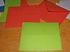 Bunte Briefumschläge selber falten - aus einfarbigem Papier oder Geschenkpapier