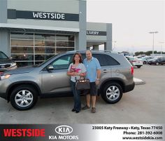 Happy Anniversary to Nohra Urrego on your 2013 #Kia #Sorento from Jerry Moore  and everyone at Westside Kia! #Anniversary