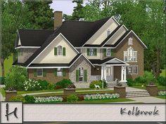 Sims 4 House Building, Sims House Plans, House Floor Plans, The Sims, Sims Cc, Sims 3 Houses Ideas, House Ideas, Sims3 House, Sims 4 Family