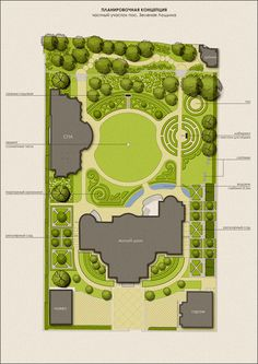 Circular lawn centres large garden.