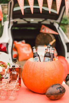 Tailgaiting fun - pumpkin drink cooler