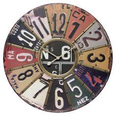 Traveler License Plate Clock