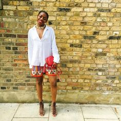 31 Perfect Looks To Copy This August #refinery29  http://www.refinery29.com/2016/08/118483/new-outfit-ideas-august-2016#slide-15  What better time than the end of summer to experiment with prints? With a simple top, the louder the shorts, skirt, or trousers, the better.Vintage shorts....