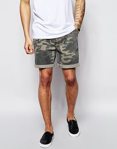 ASOS+Chino+Shorts+With+Camo+Print