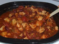 Hawaiian Chicken Chili This recipe is great and flavorfull. I won 1st place at our office chili cook-off (about 15 contestants)  								Another great recipe from my Aunt Toni. Unusual but wonderfully tasty as was proved this Fall when my DH and I won a chili cook-off with it. Hope you enjoy it as well.