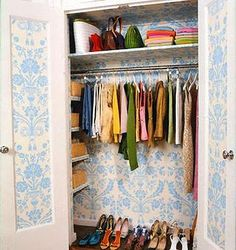 Decorated closet interior