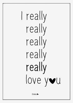 I really love you | Elske | www.elskeleenstra.nl