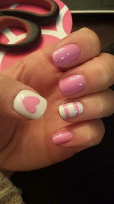Cute V-day nails done with Boom Room http://rstyle.me/~1uYeL and Marshmellow
