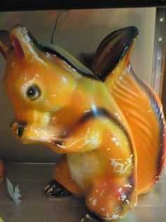 Chalkware squirrel bank