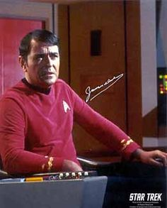Star Trek: James Doohan as Scotty Autographed Photo