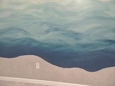 Create a unique look in your kid's room. HGTV.com gives simple instructions on how to paint a blue sea on a wall.