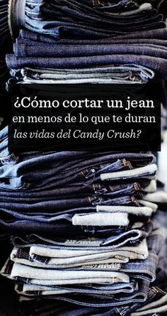 ¿Cómo transformar jeans en shorts en menos de lo que te duran las vidas del candy crush? tutorial para cortar un jeans. Customizar un short de jeans. Rápido y fácil. how to make shorts out of jeans really quickly. Tutorial. DIY. Jeans to short in seconds. Quick and easy. Encontrá el tutorial en: http://elmeme.me/QEPDmoda/como-transformar-jeans-en-shorts-en-menos-de-lo-que-te-duran-las-vidas-del-candy-crush_17110