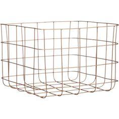 20 Minimalist Home Decor Accents - Copper Wire Storage Basket; $19.95 at cb2.com