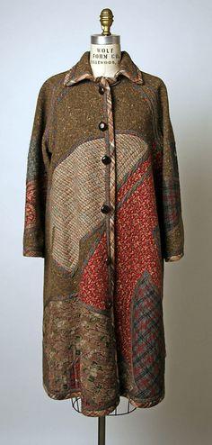 Coat, Koos van den Akker {American, born Netherlands, 1939} | c. 1989, wool | Costume Institute, Metropolitan Museum of Art ☼