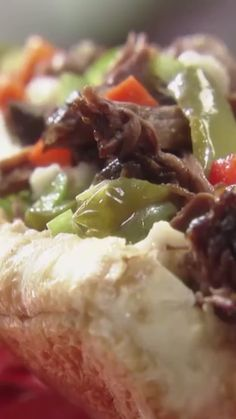 Enchiladas Discover Chicago Italian Beef (Pot Roast Style) Jeff uses giardiniera in his Italian Beef Sandwich to add a satisfying spicy crunch. Italian Beef Sandwiches Chicago, Chicago Italian Beef, Italian Roast Beef, Italian Beef Recipes, Beef Pot Roast, Meat Recipes, Cooking Recipes, Chicago Beef Sandwich, Crockpot Italian Beef