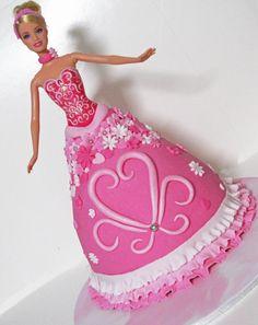 Super cute Barbie cake.
