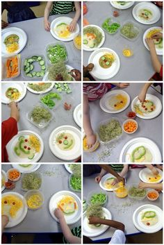 fun food activity for preschool kids making silly vegetable faces and watermelon fruit pops   The Decorated Cookie