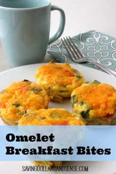 Omelet Breakfast Bites are easy to make and freezer friendly. Make a batch to freeze and pull out what you need all week long.