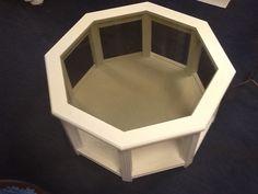 Hexagonal glass coffee table £50