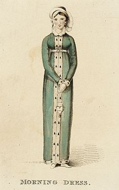 Ackermann's Repository, Morning Dress, March 1813. I love everything about this,especiallyher sweet face!