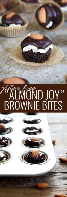 "Gluten Free ""Almond Joy"" Brownie Bites"