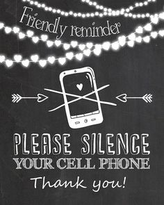please silence all cell phones large sign adhesive back sign