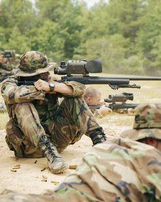 U.S army sniper.