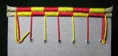 Headbands - Cabezada rosarigasina a dos colores. Vista del lomo. Alberto Chiaramonte - http://www.artesdellibro.com.mx