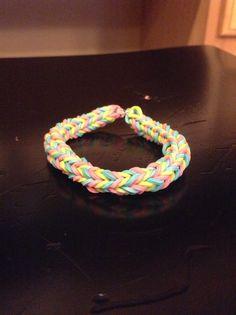 Chevron Rainbow Loom bracelet.