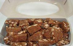Ingredientes400 g de amendoim torrado e sem pele1 e 1/2 xícara (chá) de açúcar2 colheres (sopa) de manteiga1 lata de leite condensadoMargarina para untarAçúcar cristal para polvilharModo de PreparoColoque em uma panela o amendoim, o açúcar e a manteiga e leve ao fogo médio, mexendo algumas vezes ate que fique com cor de carameloAdicione o…