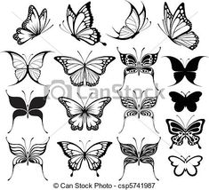 Art Clip Picture Butterfly Drawings   , stock clip art icon, stock clipart icons, logo, line art ...