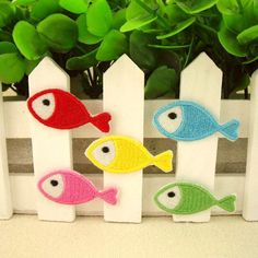 Fish Embroidered Iron-On Patches sew on patches