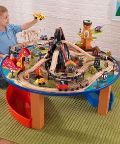 Another great find on #zulily! Dino Train Table Set by KidKraft #zulilyfinds