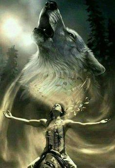 Native American Wolf, Native American Tattoos, Native Tattoos, Native American Paintings, Native American Wisdom, Native American Pictures, American Indian Art, American Symbols, American Women