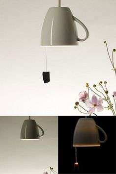 tea cup-lamp. lampara original